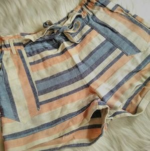 LIKE NEW STRIPED HIWAISTED COTTON SHORTS!